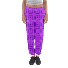 Abstract Dancing Diamonds Purple Violet Women s Jogger Sweatpants