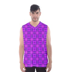Abstract Dancing Diamonds Purple Violet Men s Basketball Tank Top by DianeClancy