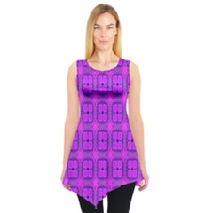 Abstract Dancing Diamonds Purple Violet Sleeveless Tunic by DianeClancy