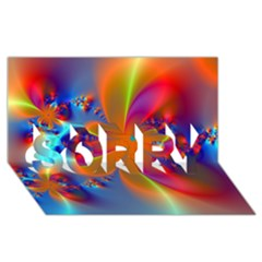 Bright Sorry 3d Greeting Card (8x4)
