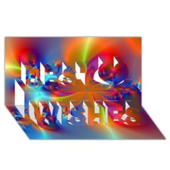 Bright Best Wish 3d Greeting Card (8x4)  by Delasel