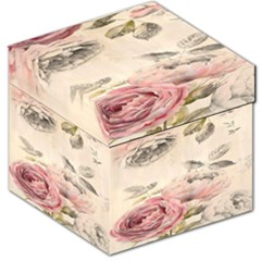 1920s Rose Print Storage Stool 12   by TCH01