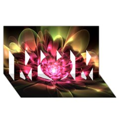 Red Peony Mom 3d Greeting Card (8x4)