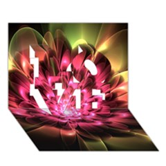 Red Peony Love 3d Greeting Card (7x5)