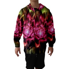 Red Peony Hooded Wind Breaker (Kids) by Delasel