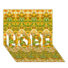 Boho Stylized Floral Stripes Hope 3d Greeting Card (7x5)  by dflcprints