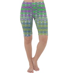 Colorful Zigzag Pattern Cropped Leggings by BrightVibesDesign