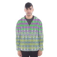Colorful Zigzag Pattern Hooded Wind Breaker (men) by BrightVibesDesign