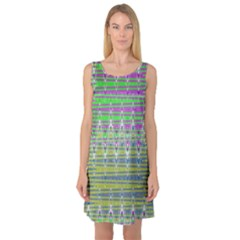 Colorful Zigzag Pattern Sleeveless Satin Nightdress by BrightVibesDesign