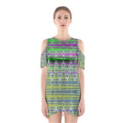 Colorful Zigzag Pattern Cutout Shoulder Dress by BrightVibesDesign