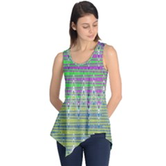 Colorful Zigzag Pattern Sleeveless Tunic by BrightVibesDesign
