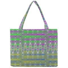 Colorful Zigzag Pattern Mini Tote Bag by BrightVibesDesign