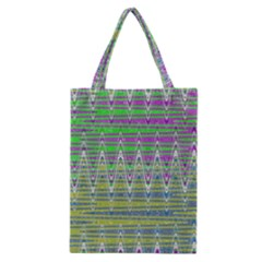 Colorful Zigzag Pattern Classic Tote Bag by BrightVibesDesign