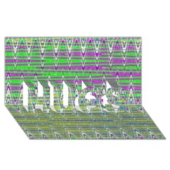 Colorful Zigzag Pattern Hugs 3d Greeting Card (8x4)  by BrightVibesDesign
