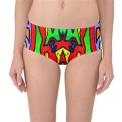 REFLECTION Mid-Waist Bikini Bottoms by MRTACPANS