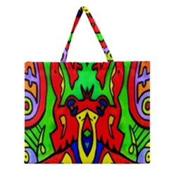 REFLECTION Zipper Large Tote Bag by MRTACPANS