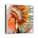 Native American Young Indian Shief Mini Canvas 6  x 6