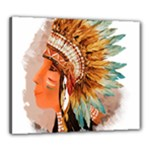 Native American Young Indian Shief Canvas 24  x 20