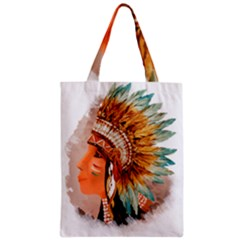 Native American Young Indian Shief Classic Tote Bag by TastefulDesigns