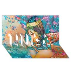 Star Illumination Hugs 3d Greeting Card (8x4)  by icarusismartdesigns