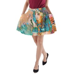 Star Illumination A-Line Pocket Skirt by icarusismartdesigns