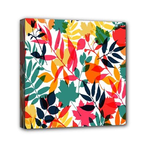 Seamless Autumn Leaves Pattern  Mini Canvas 6  X 6  by TastefulDesigns
