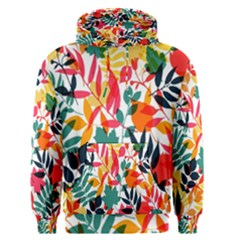 Seamless Autumn Leaves Pattern  Men s Pullover Hoodie