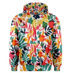 Seamless Autumn Leaves Pattern  Men s Zipper Hoodie by TastefulDesigns