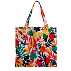 Seamless Autumn Leaves Pattern  Zipper Grocery Tote Bag