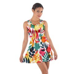 Seamless Autumn Leaves Pattern  Racerback Dresses