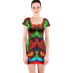 Faces Short Sleeve Bodycon Dress