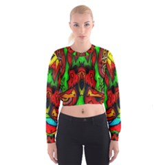 Faces Women s Cropped Sweatshirt