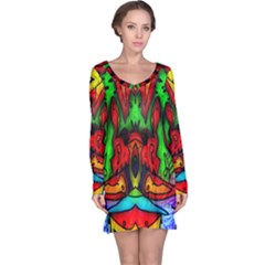 Faces Long Sleeve Nightdress