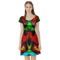 Faces Short Sleeve Skater Dress