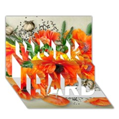 002 Page 1 (1) Work Hard 3d Greeting Card (7x5)  by jetprinted