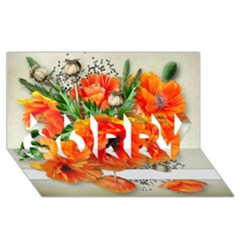 002 Page 1 (1) Sorry 3d Greeting Card (8x4)