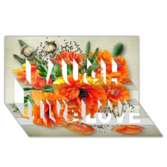 002 Page 1 (1) Laugh Live Love 3d Greeting Card (8x4)