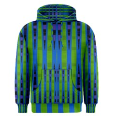 Blue Green Geometric Men s Pullover Hoodie
