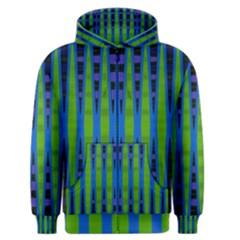 Blue Green Geometric Men s Zipper Hoodie