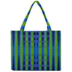 Blue Green Geometric Mini Tote Bag by BrightVibesDesign