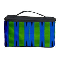 Blue Green Geometric Cosmetic Storage Cases