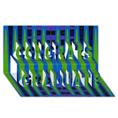 Blue Green Geometric Congrats Graduate 3d Greeting Card (8x4)