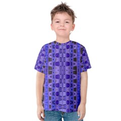Blue Black Geometric Pattern Kid s Cotton Tee