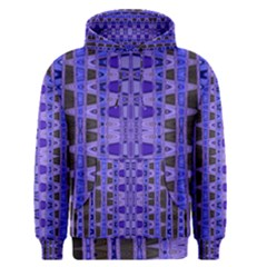 Blue Black Geometric Pattern Men s Pullover Hoodie