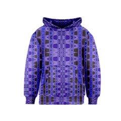 Blue Black Geometric Pattern Kids  Pullover Hoodie