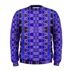Blue Black Geometric Pattern Men s Sweatshirt