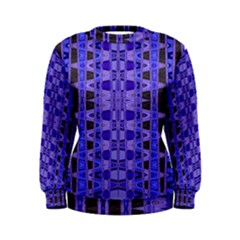 Blue Black Geometric Pattern Women s Sweatshirt