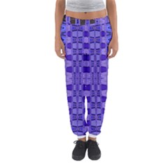 Blue Black Geometric Pattern Women s Jogger Sweatpants