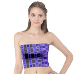 Blue Black Geometric Pattern Tube Top