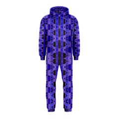 Blue Black Geometric Pattern Hooded Jumpsuit (kids)